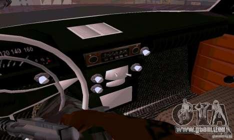 Moskvitch 412 pour GTA San Andreas vue intérieure