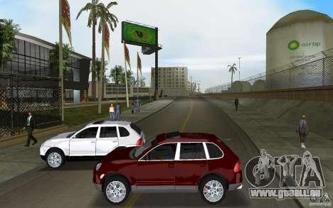 Porsche Cayenne pour une vue GTA Vice City de l'intérieur