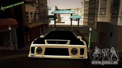 Mitsubishi Lancer Evolution 6 pour GTA San Andreas laissé vue
