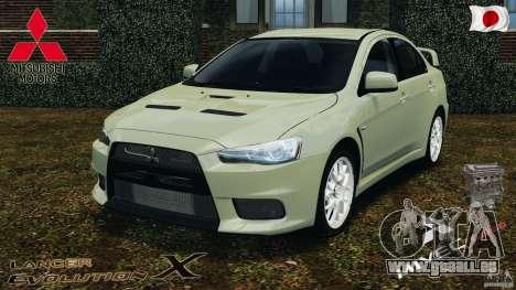 Mitsubishi Lancer Evolution X 2007 pour GTA 4