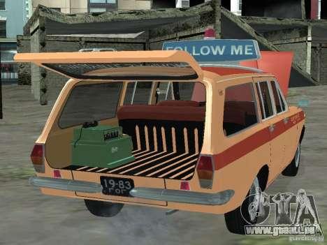 Volga GAZ-24 AEROFLOT 02 pour GTA San Andreas vue de droite