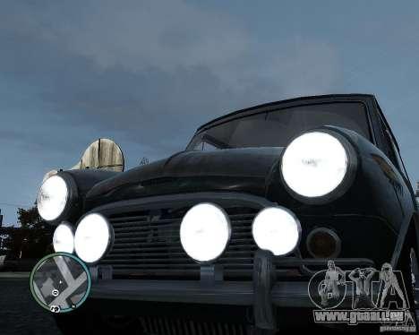 Austin Mini Cooper S pour GTA 4 est une vue de l'intérieur