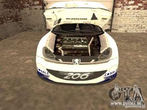 Peugeot 206 WRC de Richard Burns Rally pour GTA San Andreas vue de droite