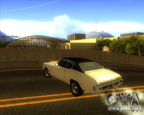 Chevy Chevelle SS stock 1970 für GTA San Andreas zurück linke Ansicht