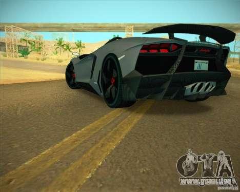 Lamborghini Aventador J pour GTA San Andreas vue de droite