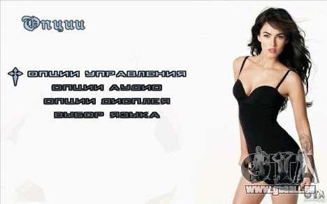 Écrans de démarrage Megan Fox pour GTA San Andreas troisième écran