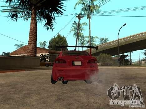 Lexus Drift Car pour GTA San Andreas sur la vue arrière gauche