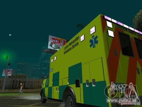 London Ambulance pour GTA San Andreas vue de côté