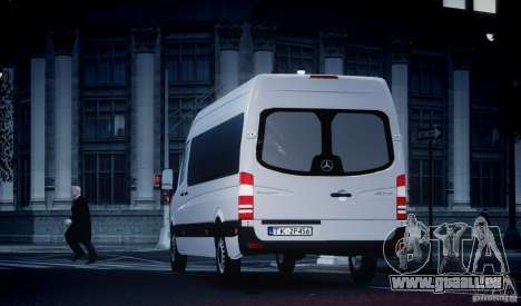 Mercedes-Benz Sprinter Long für GTA 4 Innenansicht