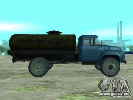 Camion-citerne de lait ZIL 130 pour GTA San Andreas laissé vue