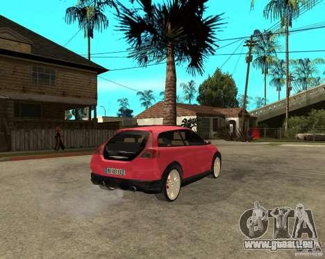 VOLVO C 30 T5 DEL 2008 pour GTA San Andreas sur la vue arrière gauche