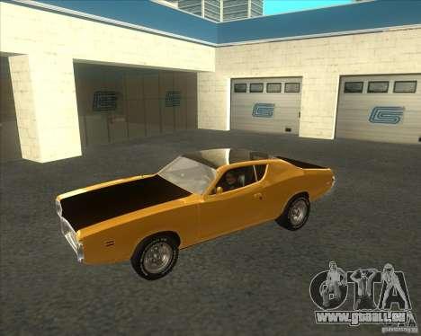 Dodge Charger RT 1971 pour GTA San Andreas laissé vue