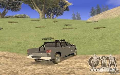 Toyota Tundra 4x4 pour GTA San Andreas vue de droite