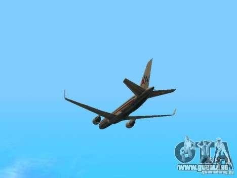 Boeing 757-200 American Airlines für GTA San Andreas Innenansicht