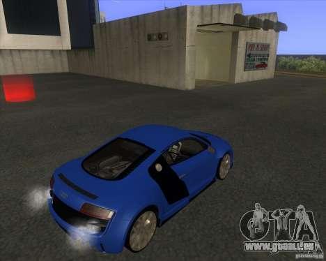 Audi R8 5.2 FSI pour GTA San Andreas sur la vue arrière gauche