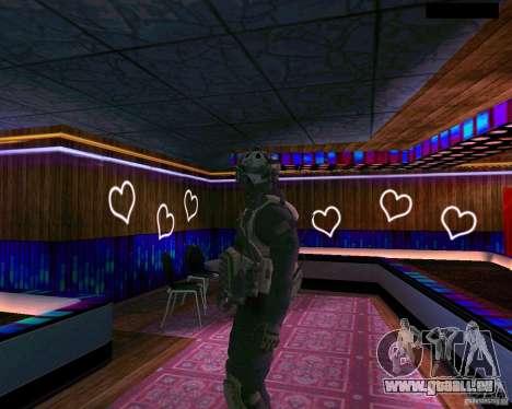 La seconde peau de CoD MW 2 pour GTA San Andreas troisième écran