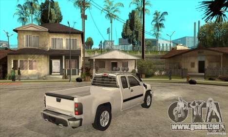 GMC Sierra pour GTA San Andreas vue de droite