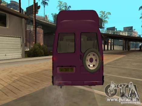 Gazelle 32213 taxi für GTA San Andreas Rückansicht