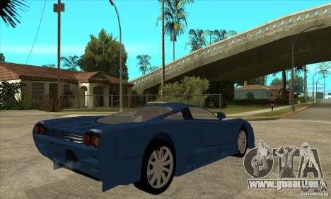 Saleen S7 v1.0 pour GTA San Andreas vue de droite