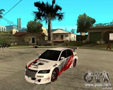 Lancer Evolution VIII, intervenierte die Amerika für GTA San Andreas