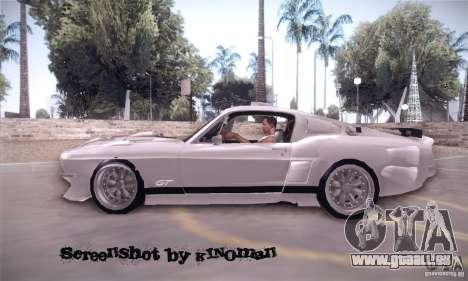 Shelby GT500 pour GTA San Andreas laissé vue