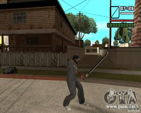Sasuke sword pour GTA San Andreas troisième écran