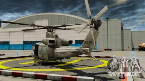 Hélicoptère Bell UH-1Y Venom pour GTA 4 Vue arrière de la gauche