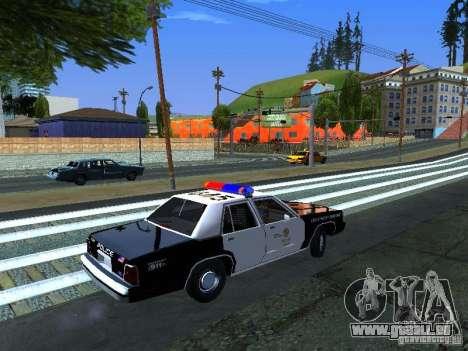 Ford Crown Victoria LTD 1992 LSPD für GTA San Andreas zurück linke Ansicht