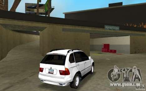 BMW X5 pour une vue GTA Vice City de la droite