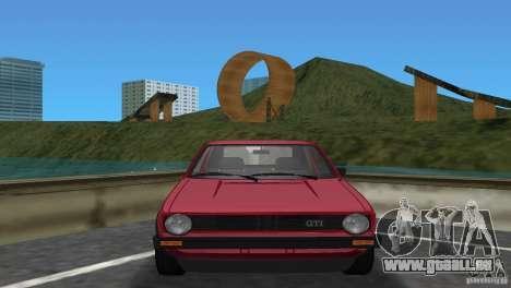 Volkswagen Golf Mk1 GTI pour GTA Vice City sur la vue arrière gauche