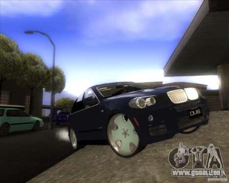 BMW X5 dubstore pour GTA San Andreas vue de dessus