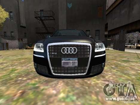 Audi A8L W12 pour GTA 4 vue de dessus