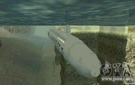USS Submarine Beta pour GTA San Andreas