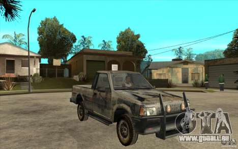 Rusty Mazda Pickup für GTA San Andreas Rückansicht