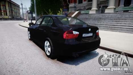 BMW 3-Series Unmarked [ELS] pour GTA 4 Vue arrière de la gauche