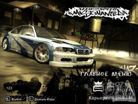 Laden Bilder im Stil von NFS: Most Wanted für GTA San Andreas her Screenshot