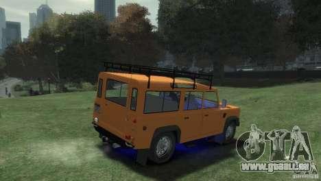 Land Rover Defender Station Wagon 110 für GTA 4 hinten links Ansicht