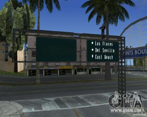 Route signes v1.0 pour GTA San Andreas quatrième écran