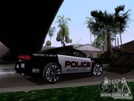Dodge Charger SRT8 2011 V1.0 für GTA San Andreas Rückansicht