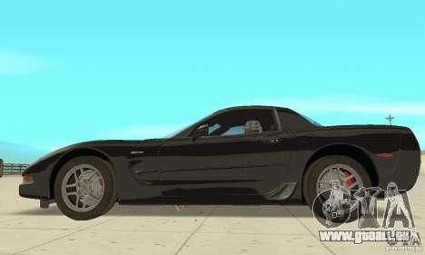 Chevrolet Corvette 5 pour GTA San Andreas sur la vue arrière gauche