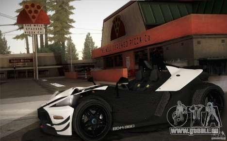 KTM-X-Bow pour GTA San Andreas vue intérieure