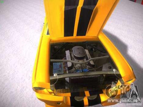 Shelby GT500 Eleanor pour GTA San Andreas vue intérieure