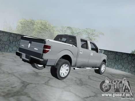 Lincoln Mark LT 2013 für GTA San Andreas zurück linke Ansicht