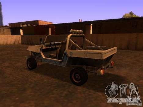 Camionnette de T3 pour GTA San Andreas vue de droite