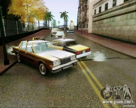 Chevrolet Impala 1986 Taxi Cab pour GTA San Andreas vue de côté