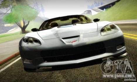 Chevrolet Corvette ZR-1 pour GTA San Andreas sur la vue arrière gauche