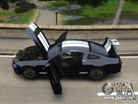 Ford Shelby GT500 2010 WIP für GTA 4 hinten links Ansicht