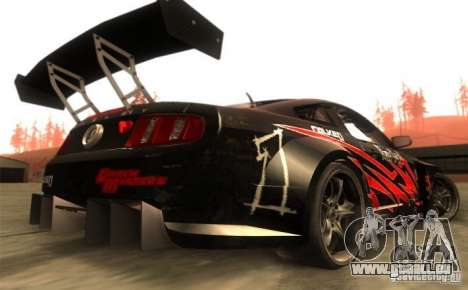Ford Mustang Shelby GT500 V1.0 pour GTA San Andreas vue de droite