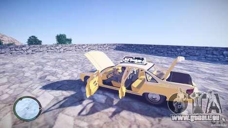 Chevrolet Caprice Taxi pour GTA 4 est une vue de l'intérieur