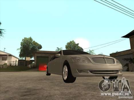 Mercedes-Benz Pullman (w221) SE pour GTA San Andreas vue intérieure
